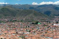 Cusco viewed from Saqsaywaman Inca Fortress